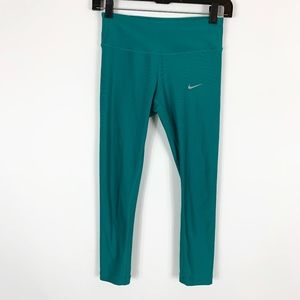 Nike Running Leggings Women's Size XS Dri-Fit Teal